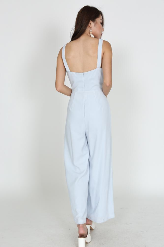 Scoopback Jumpsuit in Moonstone