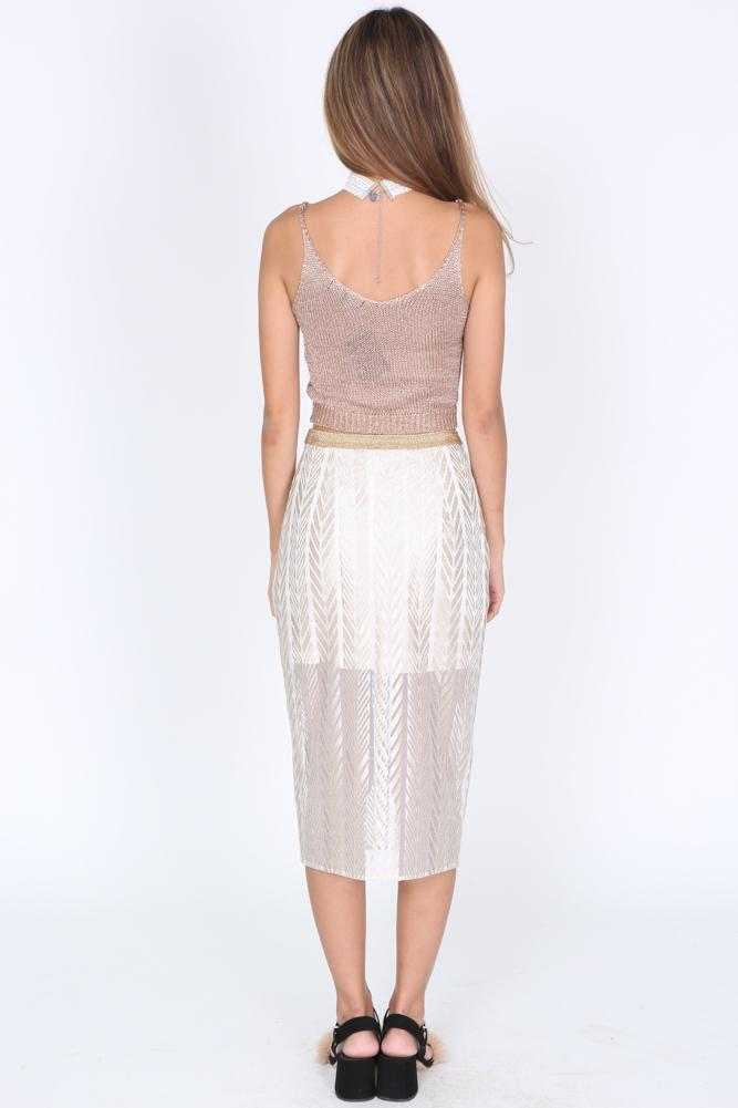 Marina Skirt in Champagne