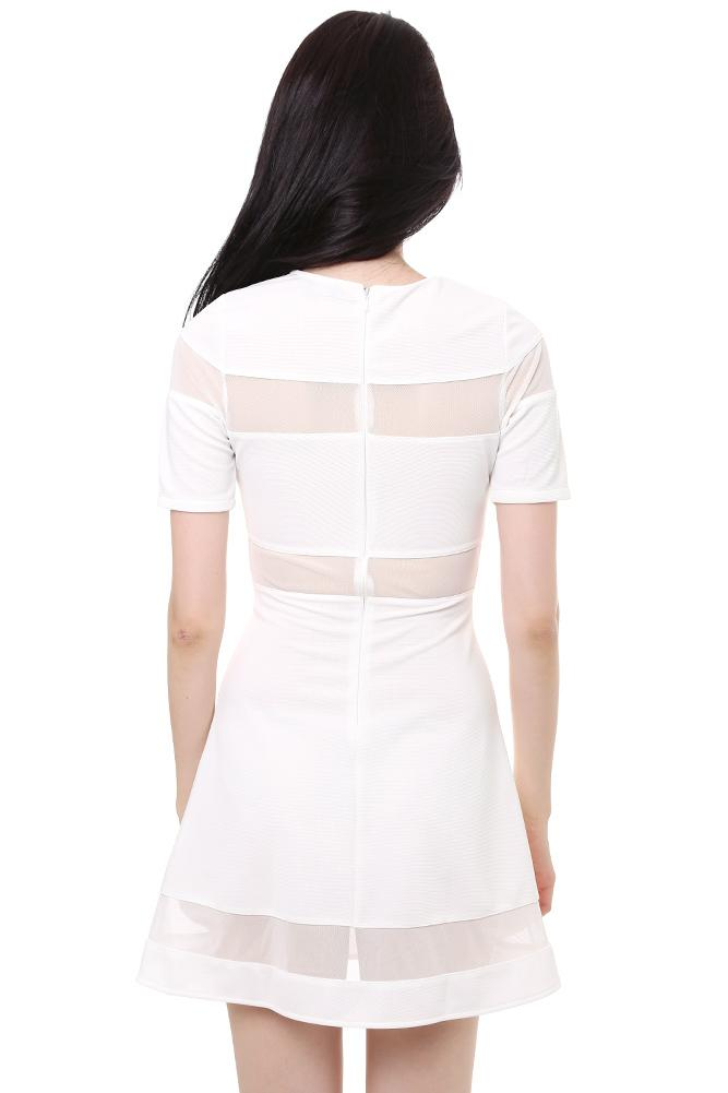Cameron Dress in White