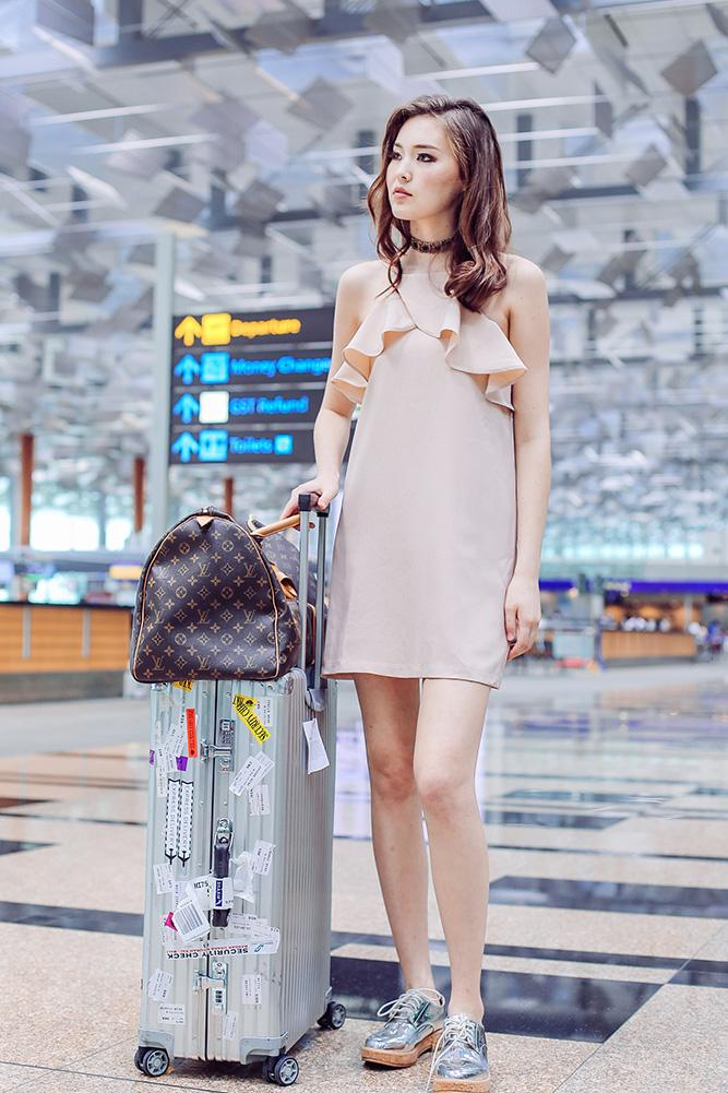 Ines Dress in Blush