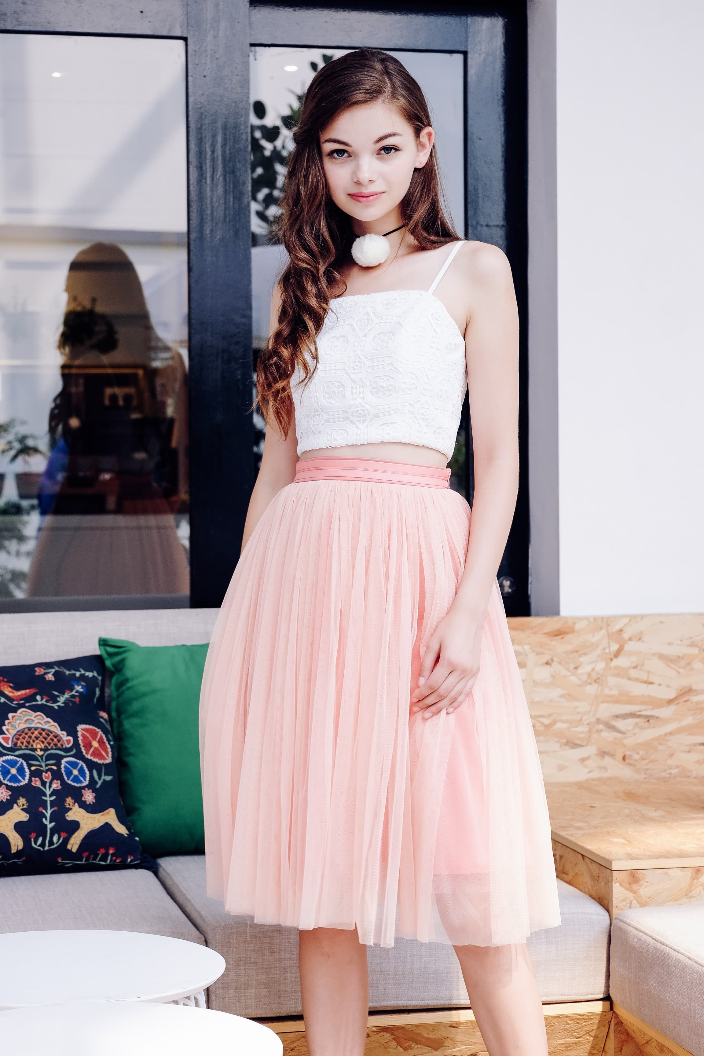 Lasell Skirt in Pink
