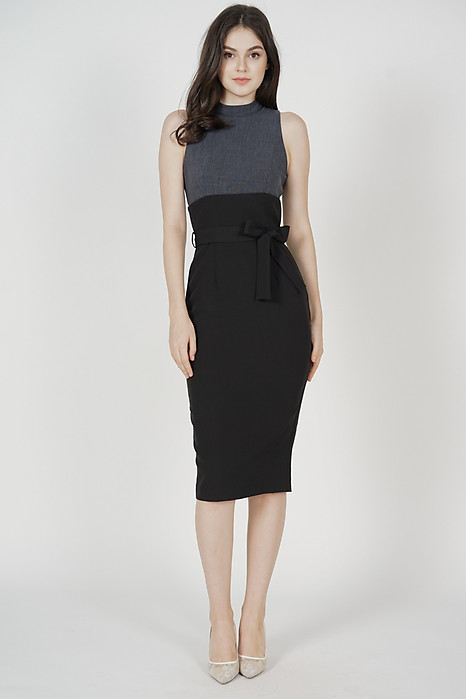 Birea Contrast Dress in Black - Arriving Soon