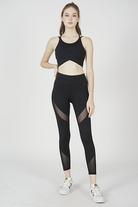 Darrah Strappy Padded Top in Black - Arriving Soon