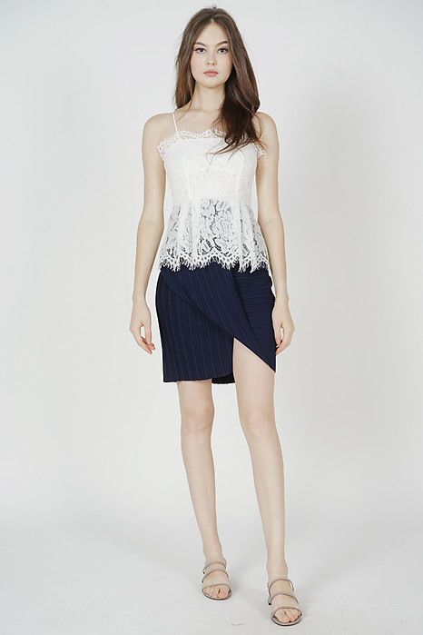 Kaidren Lace Top in White