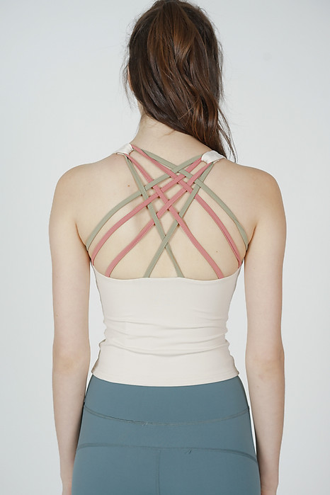 Seinia Cross-Back Top in Beige - Arriving Soon