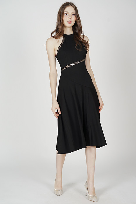 Mosley Halter Dress in Black - Arriving Soon
