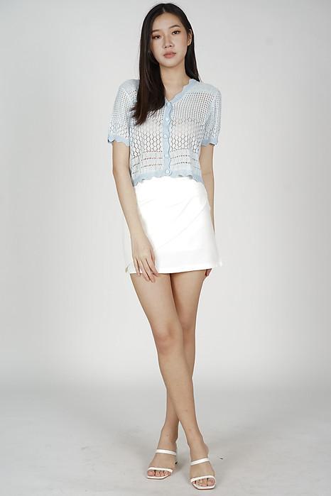 Solli Knit Top in Light Blue - Online Exclusive