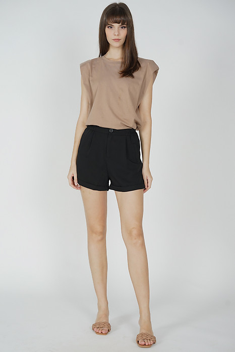 Gary Flared Shorts in Black - Online Exclusive
