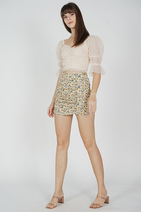 Malonie Puffy Top in Cream - Arriving Soon