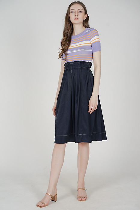Jacena Midi Skirt in Blue - Online Exclusive
