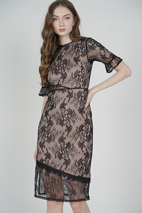 Haydin Lace Dress in Black - Arriving Soon