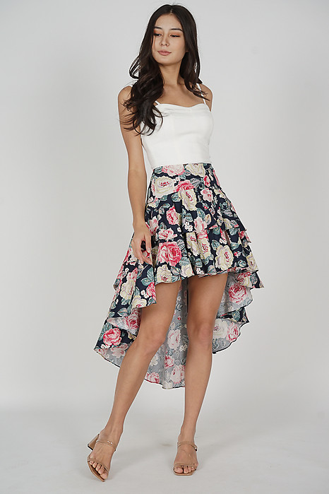 Jacobus Tiered Skirt in Midnight Floral - Arriving Soon