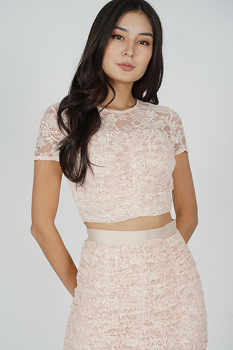 Raeah Lace Top in Pink