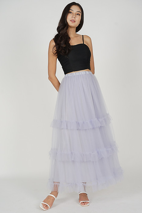 Pablo Gathered Tulle Skirt in Lilac - Arriving Soon