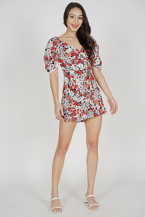 Illani Puffy Romper in Red - Arriving Soon