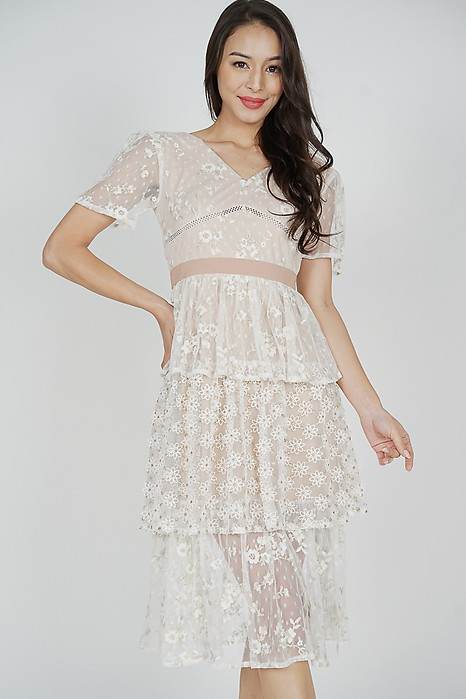 Mayira Lace Dress in White
