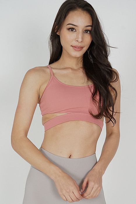 Mikia Strappy Cutout Top in Coral - Arriving Soon