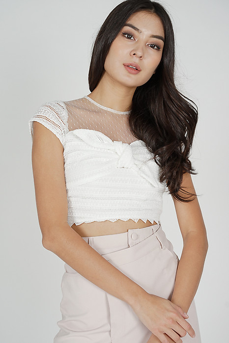 Titania Lace Top in White