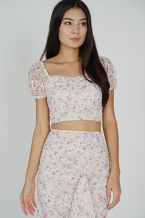 Dofia Lace Top in Pink Floral - Arriving Soon