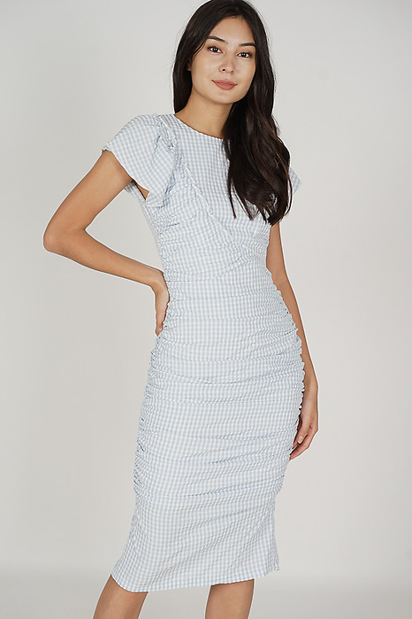 Sashie Midi Dress in Blue