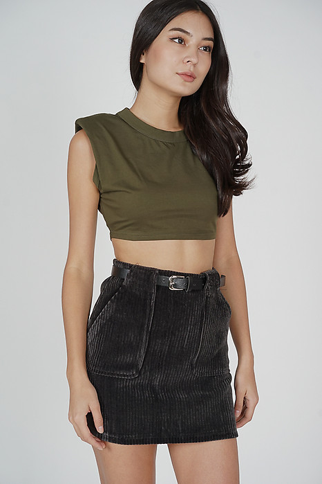 Dave Mini Skirt in Grey - Online Exclusive