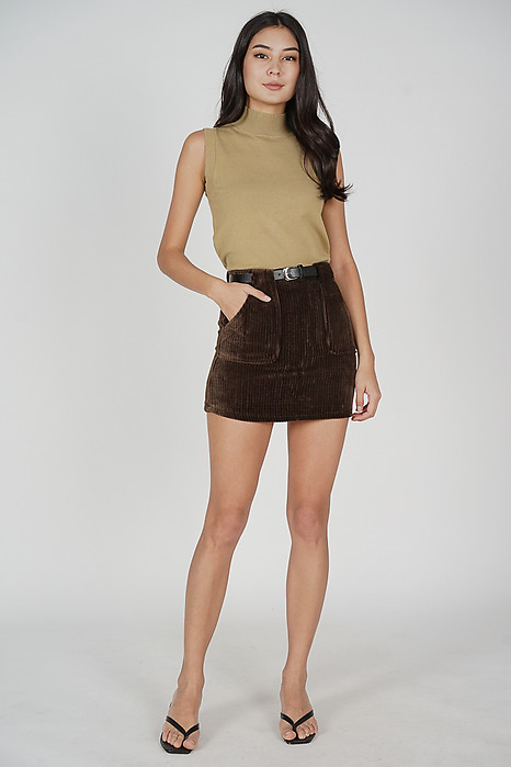 Dave Mini Skirt in Cocoa - Online Exclusive
