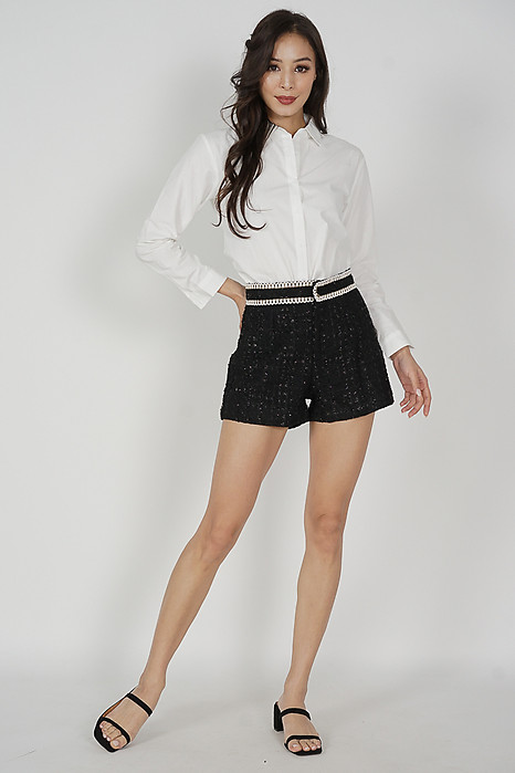 Deryl Mini Shorts in Black - Online Exclusive