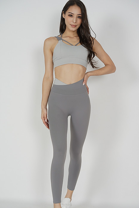 Kallon Contrast Gym Tights in Grey - Arriving Soon