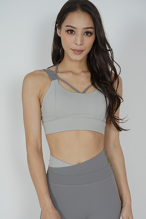 Garin Strappy Padded Top in Grey - Arriving Soon