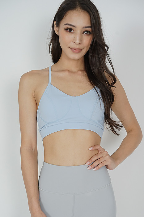 Leki Padded Top in Light Blue - Arriving Soon