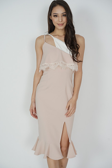 Jaysey Overlay Dress Nude - Arriving Soon