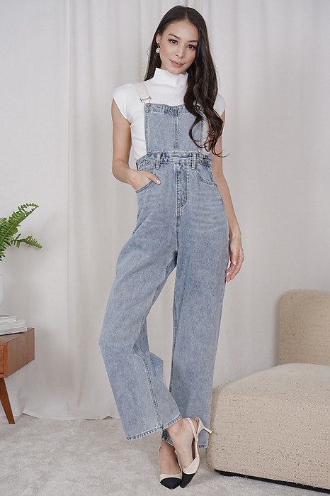 Kuina Denim Overalls in Blue - Online Exclusive