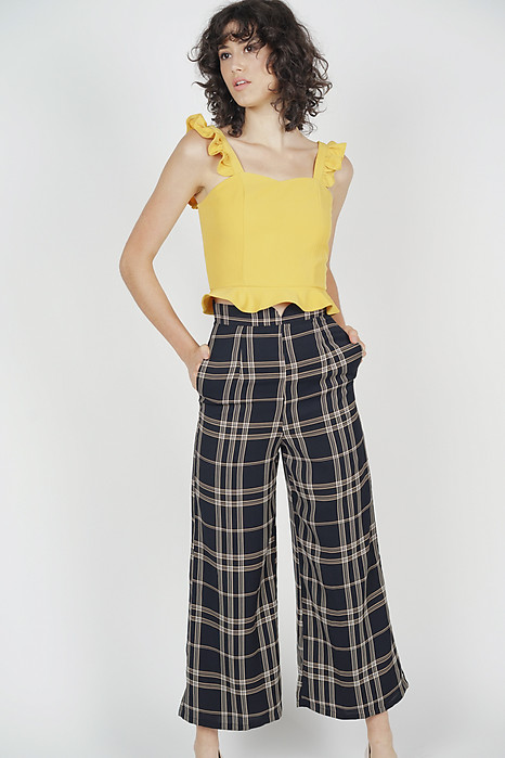 Shera Flare Pants in Black Checks