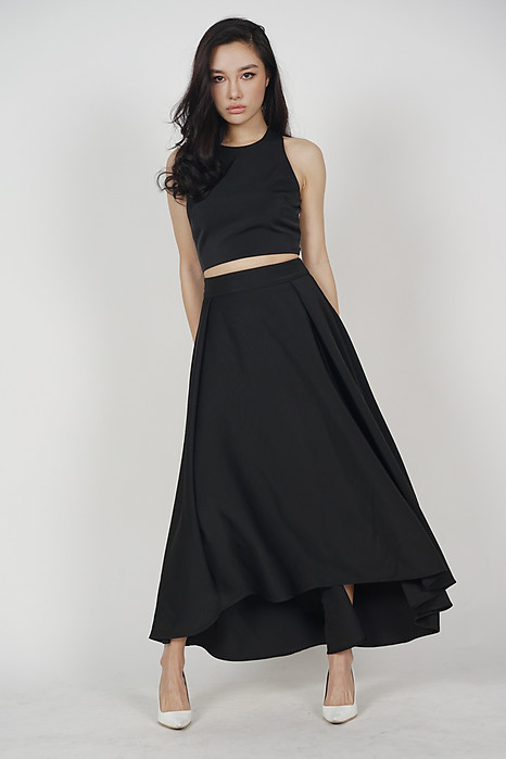 Trita Flare Skirt in Black