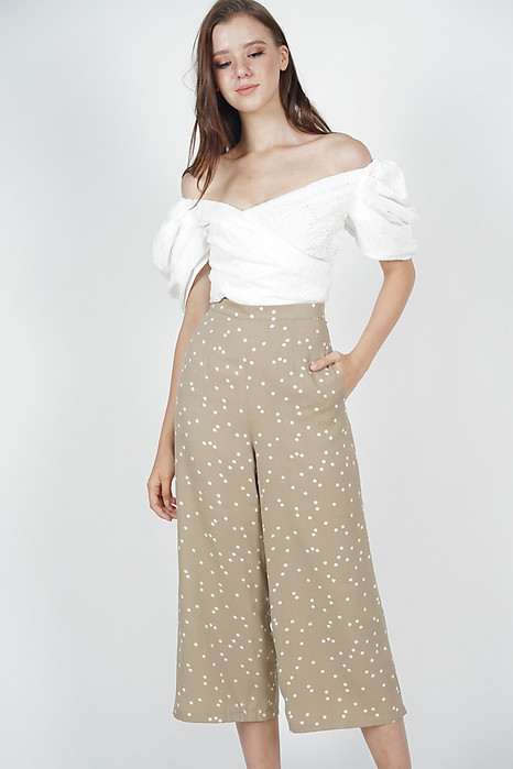 Mandrie Flare Culottes in Taupe Polka Dots - Arriving Soon