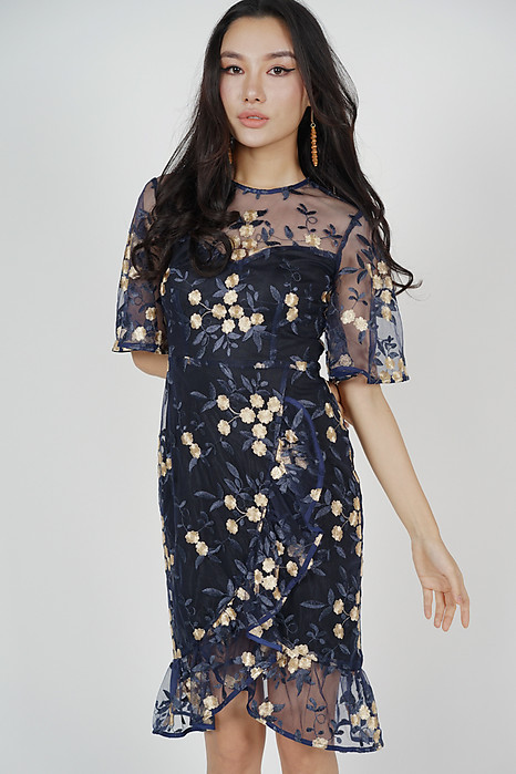 Panthea Dress in Midnight