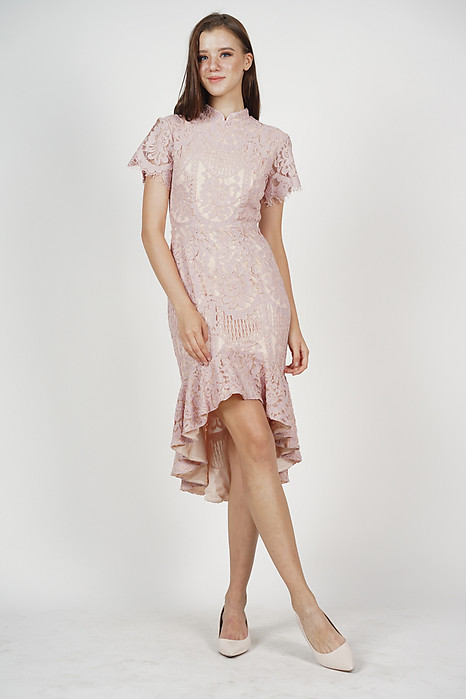 Anni Cheongsam Dress in Pink