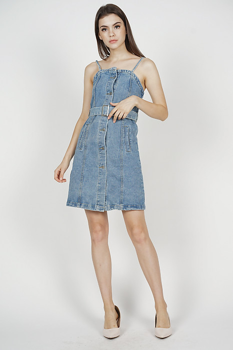 Myer Denim Dress in Blue - Online Exclusive