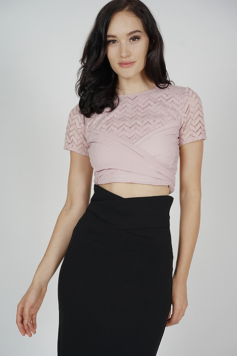 Brendie Criss Cross Top in Pink - Arriving Soon