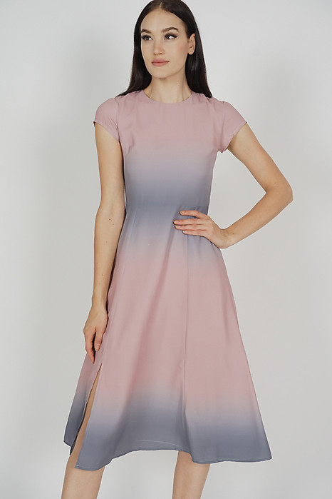 c9e4a687ba6 Blaire Ombre Dress in Grey Pink - Arriving Soon