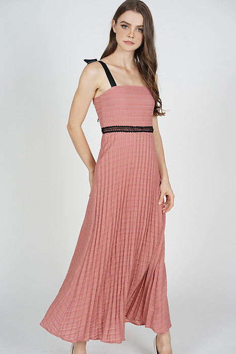 Adras Pleated Dress in Pink - Arriving Soon