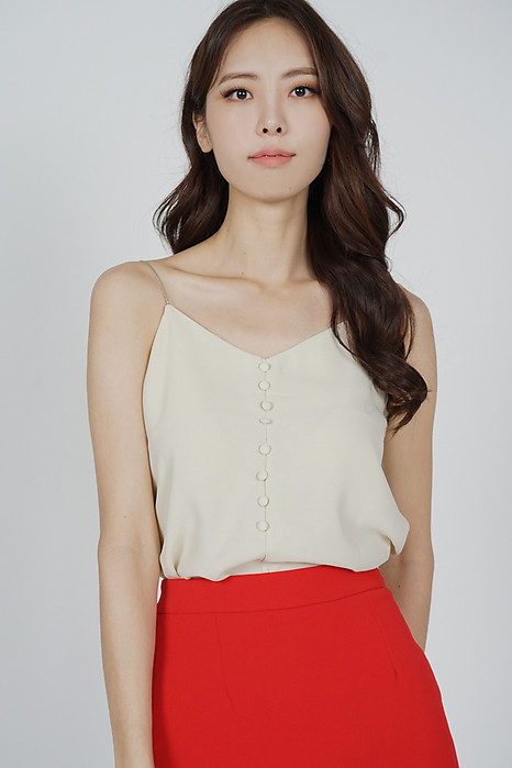 Mirea Cami Top in Cream - Online Exclusive