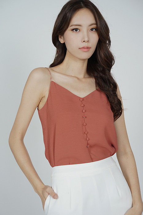 Mirea Cami Top in Rust - Online Exclusive