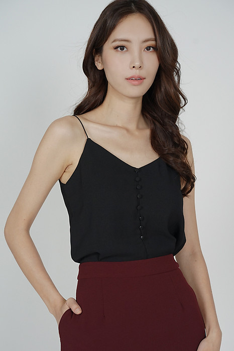 Mirea Cami Top in Black - Arriving Soon