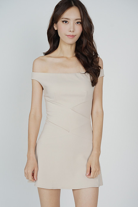 Olia Criss Cross Dress in Nude - Arriving Soon