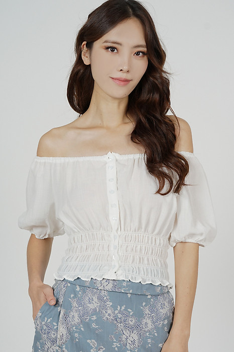 Quera Puffy Top in White - Arriving Soon