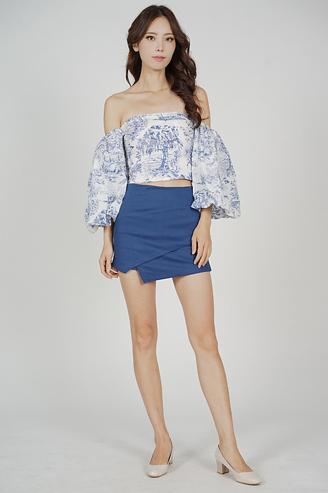 Naesa Overlay Skorts in Blue - Online Exclusive