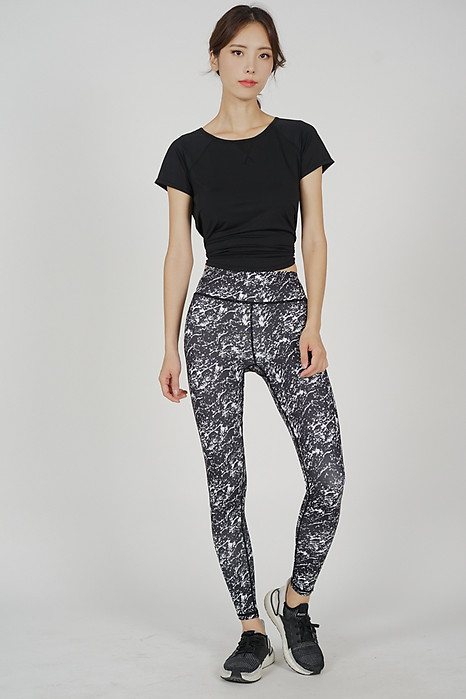 Drean Yoga Pants in Black White - Arriving Soon