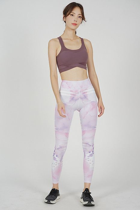 Bora Yoga Pants in Pink Abstract - Arriving Soon