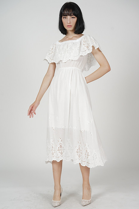 Blaire Crochet Dress in White - Online Exclusive